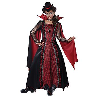 Viktorianske Vampira vampyrer gotiske middelalderen Halloween Dress Up Girls drakt