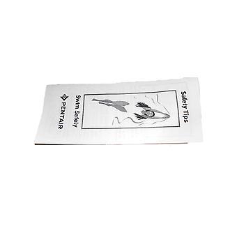 بطاقة كتيب نصائح السلامة بينتير