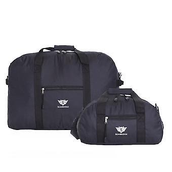 Ryanair de Slimbridge Set de 2 bagages de cabine, Black 55 x 40 x 20 cm et 35 x 20 x 20 cm