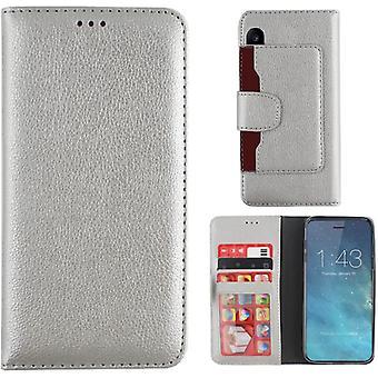 Colorfone Brieftasche Fall iPhone X/Xs Brieftasche Fall Silber
