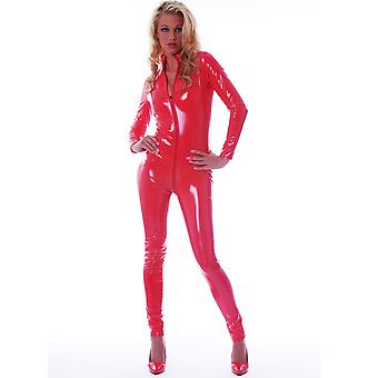Honour Women's Fitted Catsuit in PVC High Neck & Longsleeves Harlot Design