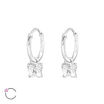 Papillon cristal de Swarovski® - boucle d'oreille en argent Sterling 925 - W32858X