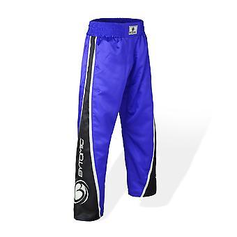 Bytomic børn V3 Team Kickboxing bukser blå/sort