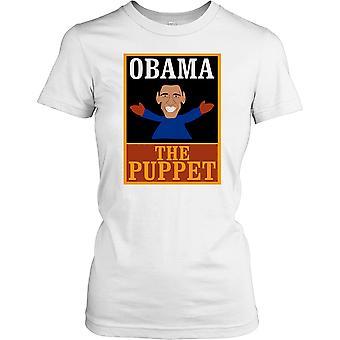 Obama die Marionette Damen T Shirt