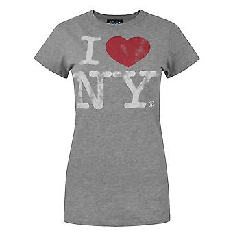 Junk Food I Love New York Women's T-Shirt Grey