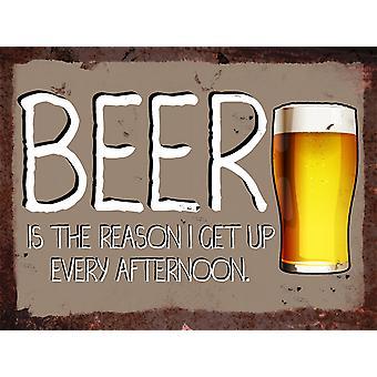 Jahrgang Metallwand Sign - Bier am Nachmittag