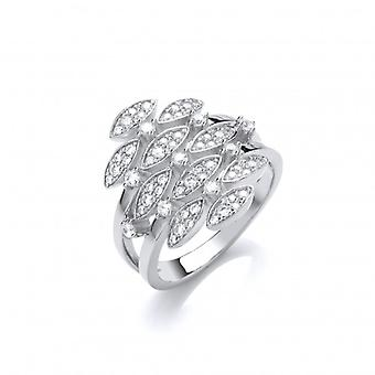 Cavendish French Silver and CZ Vintage Style Waterfall Ring