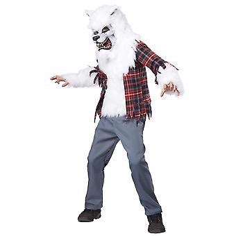 White Werewolf Lycan Wolf Wolfman Horror Monster Halloween Boys Costume
