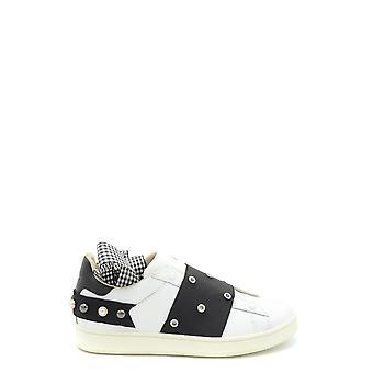 Moa Ezbc118010 Women's White Leather Slip On Sneakers