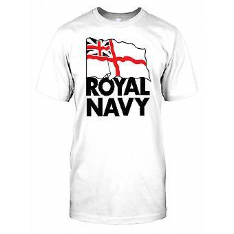 Le drapeau royal de la Marine - British Naval Puissance Mens T Shirt