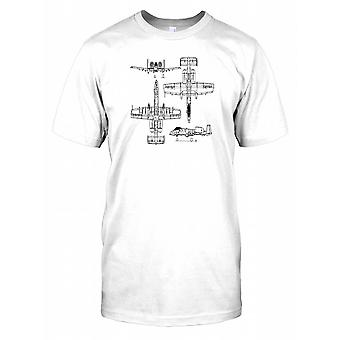 A-10 Thunderbolt II disegno schematico - Death from above Mens T-Shirt