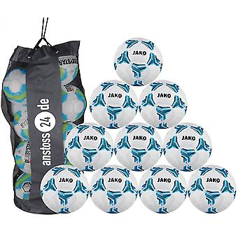 10 x JAKO training ball striker 2.0 MS includes ball sack