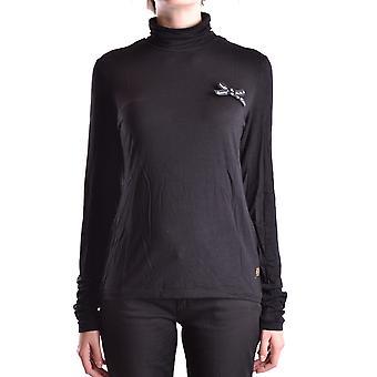 Frankie Morello Ezbc167061 Women's Black Cotton Sweater