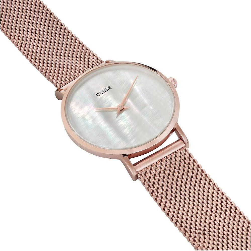 Cluse Cl30047 Minuit La Perle Rose Gold & White Pearl Ladies Watch