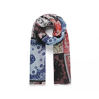 Intrigue femmes/dames patché foulard imprimé Vintage