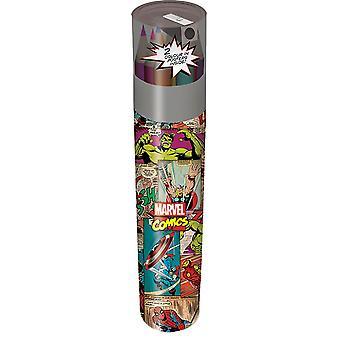 Marvel Comics Retro Pencil Tube Set