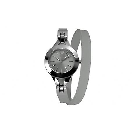 Emporio Armani Ar7347 Quartz Double Wrap Silicone Women Watch