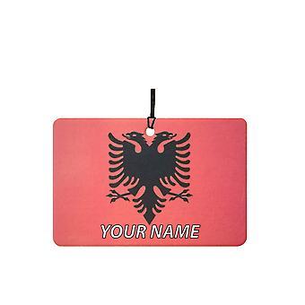 Albania flagg tilpasset bil Air Freshener