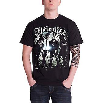 Motley Crue T Shirt Group Photo band logo Official Mens Black