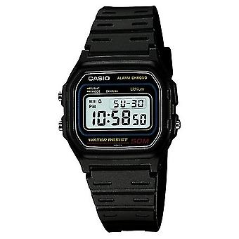 Casio Retro Alarm Men es Black Chronograph Watch W-59-1VQES