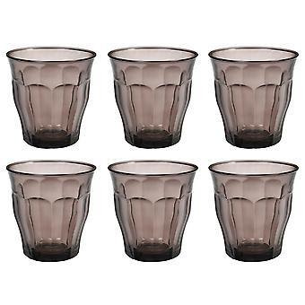 Duralex Set of 6 Picardie Colors Grey Tumblers, 25cl