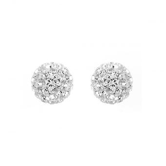 Eternity Sterling Silver 10mm Crystal Ball Stud Boucles d'oreilles