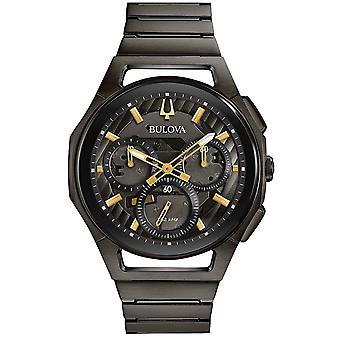 Bulova Curv zwart Stainless Steel Chronograph Mens Watch 98A206