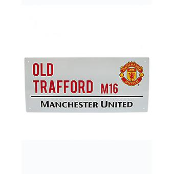 Man United Football Club Old Trafford Street Sign