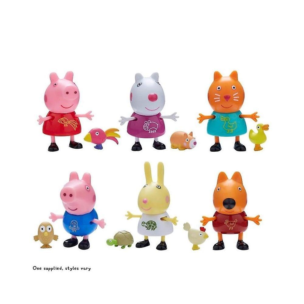 Peppa Pig Pals & hus djur (Goerge Pig & Owl) Toy set