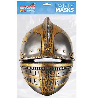 Medieval Knight's Helmet Historical Single 2D Card Party Fancy Dress Mask