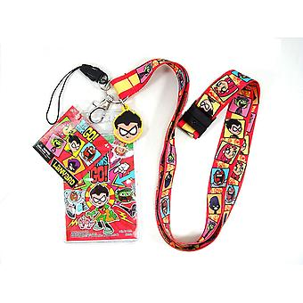 Lanyard-DC komiksy-w/soft touch Dangle DC, Titans 45538