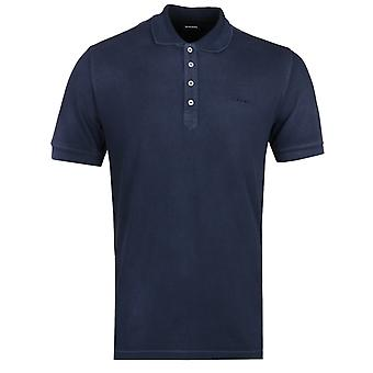 Diesel T-Night knust Navy Polo skjorte