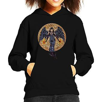 Alchemy Black Angel Kid's Hooded Sweatshirt
