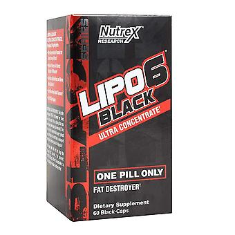 Nutrex Lipo-6 svart kraftig vekttap støtte supplement