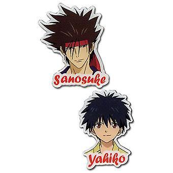 PIN set-Kenshin-Sanosuke & Yahiko (sett med 2) nye leker anime ge50092