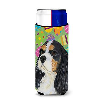 Cavalier Spaniel Easter Eggtravaganza Ultra Beverage Insulators for slim cans LH