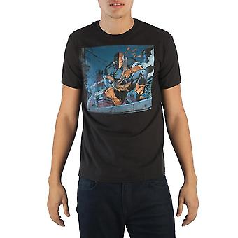 Batman Deathstroke Men's Black T-Shirt