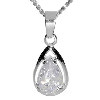 InCollections 2410200028401 - Chain with children's pendant with cubic zirconia - silver sterling 925
