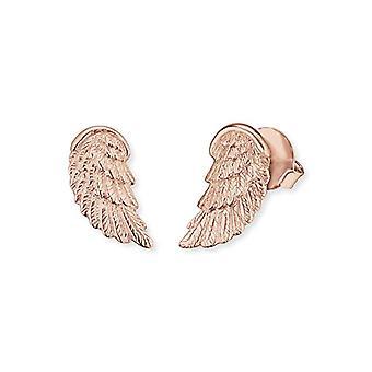 Engelsrufer Angel Wing earrings for women 925 Sterling silver rose gold plated 17 -5 mm