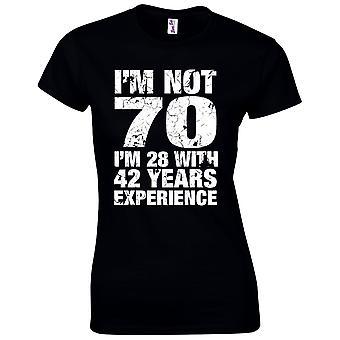 70 års fødselsdag gaver til kvinder hendes im ikke 70 T-shirt