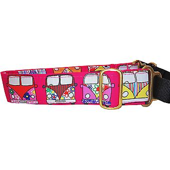 Dogcrafts Martingale Campervan Rosa Messing Drop Black Loop