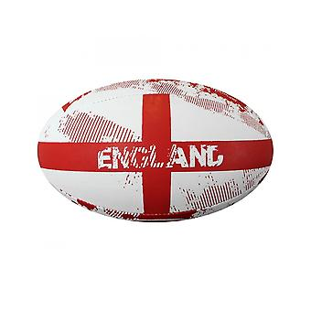 Optimum Sport Hand Stitched Rubber England Rugby Ball - Midi