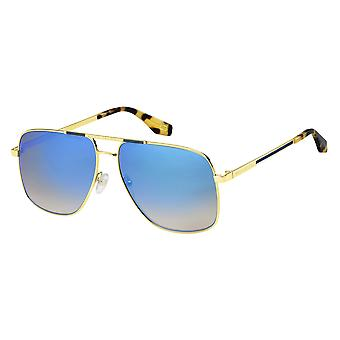 Marc Jacobs Marc 387/S C9B/KM Gold-Havana Honey/Grey-Blue Mirror Sunglasses