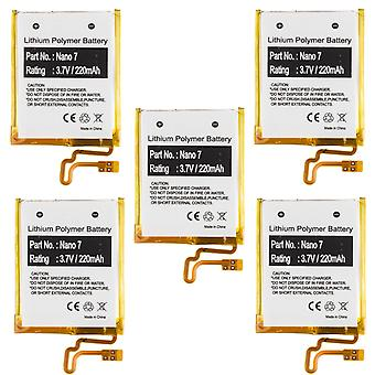 5er-Pack Akku für Apple iPod Nano 7. Gen A1446 MD481LL/A 616-0639 616-0640 neu