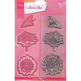 Marianne Design Collectables Cutting Dies & Clear Stamps - Flowers & Leaf 2 COL1304