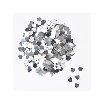 Srebrne serca konfetti 14gm