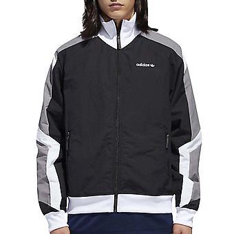 adidas Originals mens EQT Colourblock full zip Windbreaker track jacka-svart