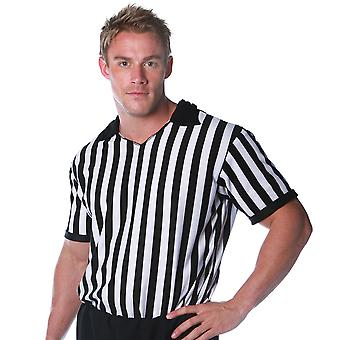 Referee Shirt Umpire Soccer Basketball Football Uniform Men Costume Plus 2XL