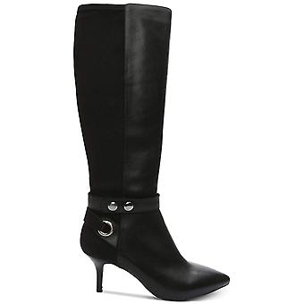 Tahari Womens Tabor Leather Pointed Toe Knee High Fashion Boots