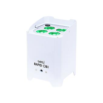 LEDJ Ledj Rapid Qb1 Rgba Ip Battery Powered Led Par - White
